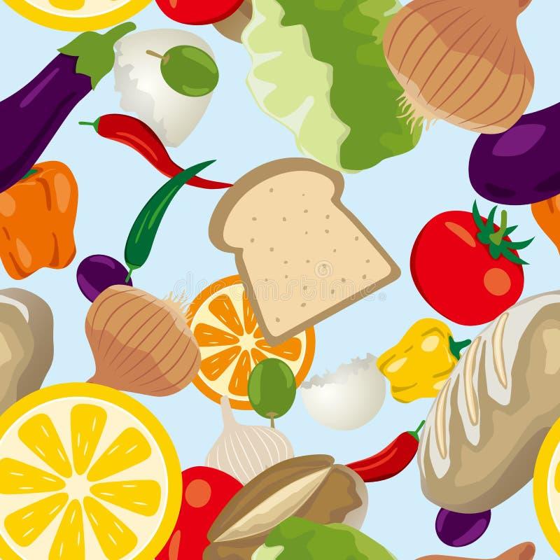 Seamless Food Pattern Stock Image