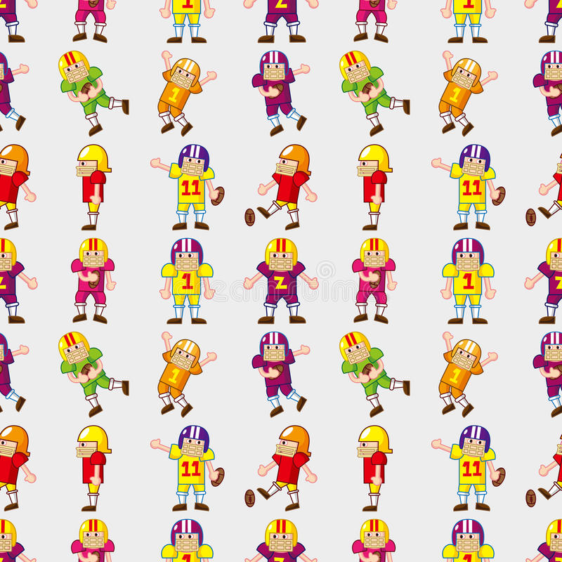 Download Seamless football pattern stock vector. Image of comic - 27898674