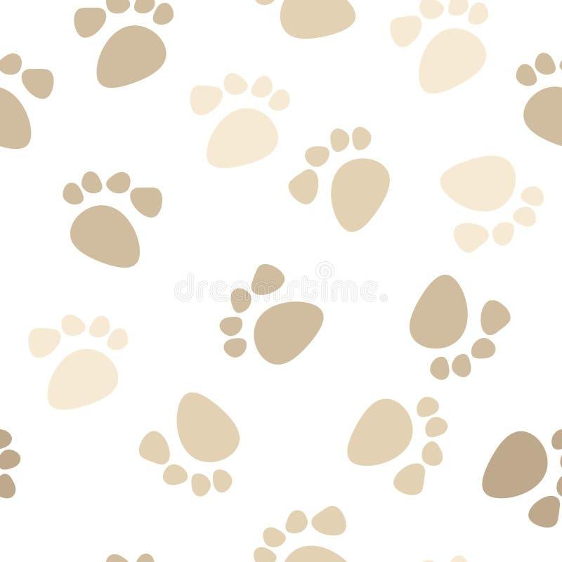 seamless fotspårmodell vektor illustrationer
