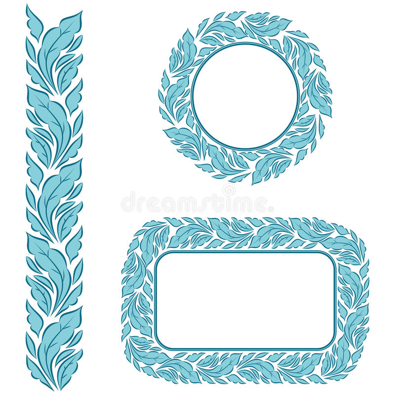 Seamless Frame With Leaves Stock Image