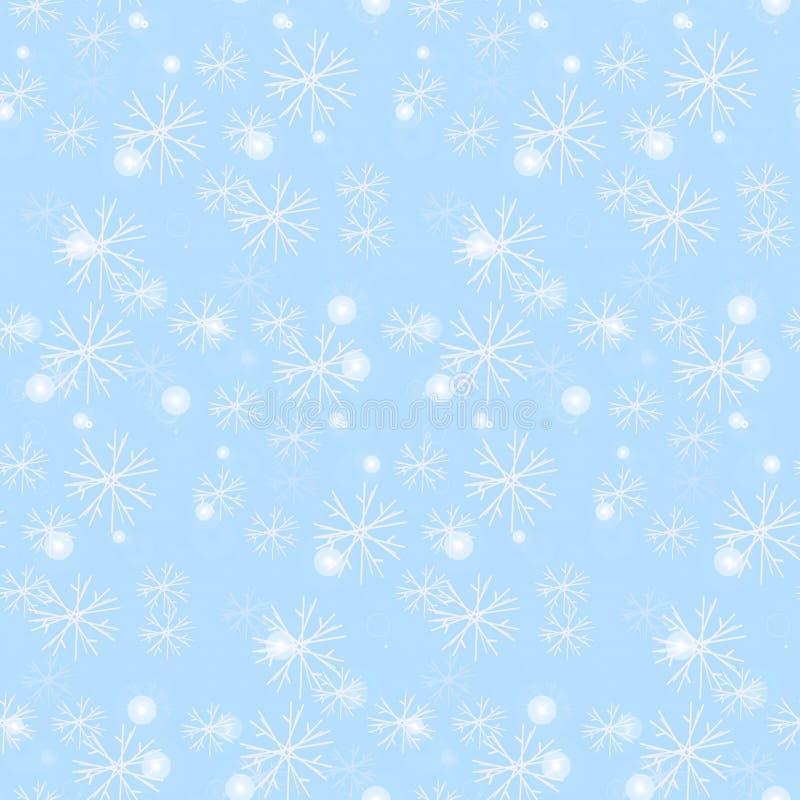 Seamless frosty pattern, snowflakes us glass illustration stock illustration
