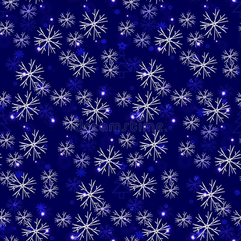 Seamless frosty pattern, snowflakes us glass illustration vector illustration