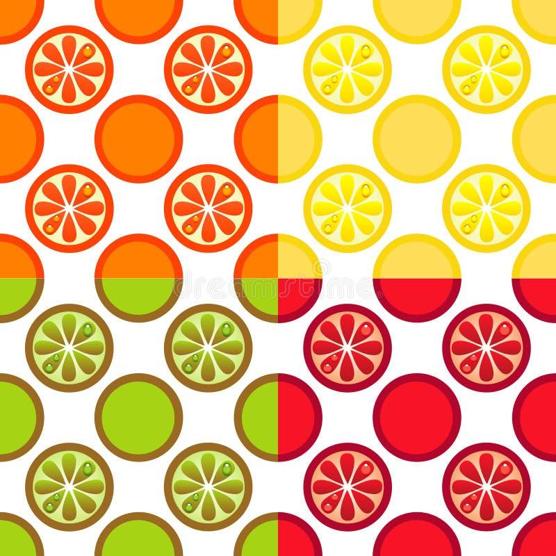 Seamless Fruit Pattern royalty free stock photos