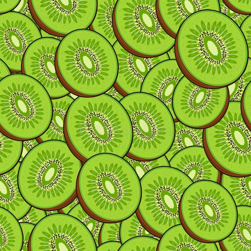 Free Seamless Fruit Pattern: Kiwies. Stock Photography - 128562252