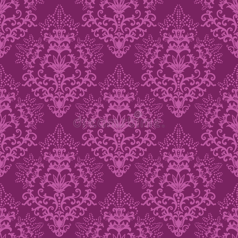 Free Seamless Fuchsia Purple Floral Wallpaper Stock Photography - 12123382