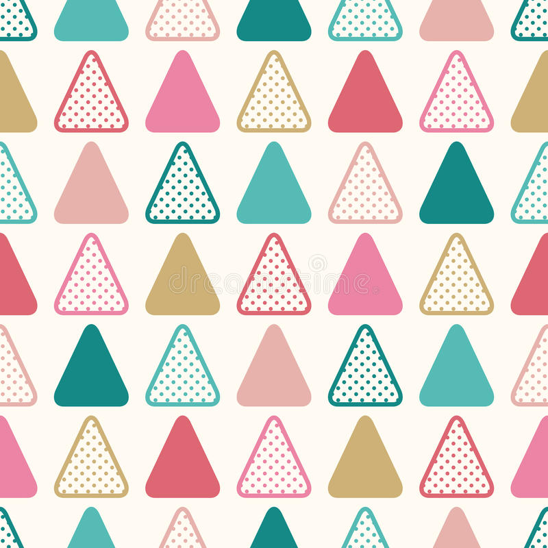 Seamless fun triangle wallpaper background. With dots texture vector illustration