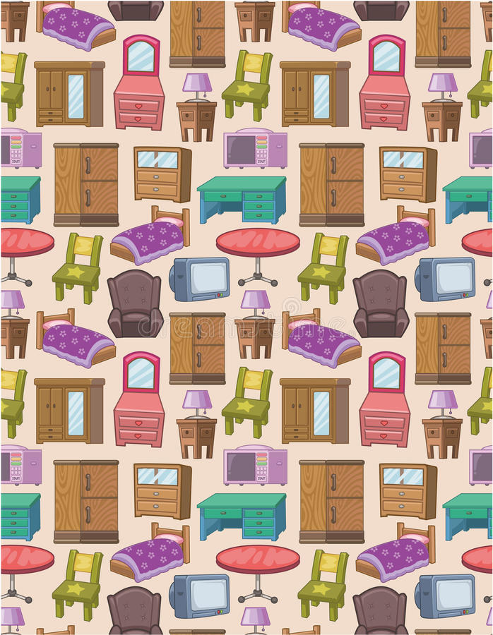 Download Seamless furniture pattern stock vector. Illustration of beautiful - 18845114