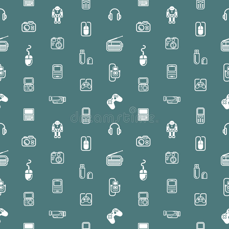 Download Seamless Gadgets Background Texture Stock Vector - Image: 28376729