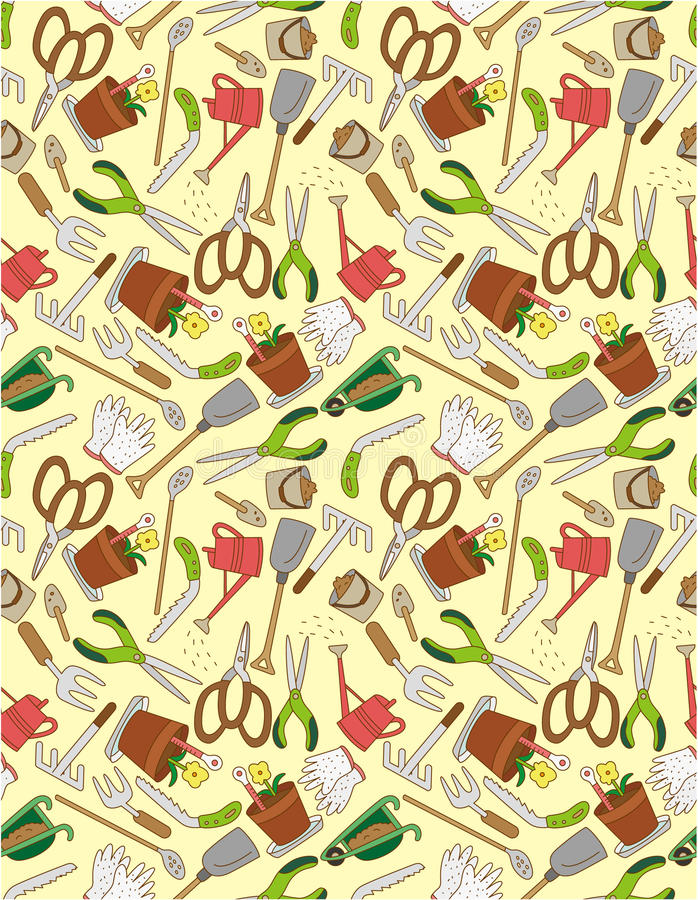 Download Seamless gardening pattern stock vector. Image of grass - 18455078