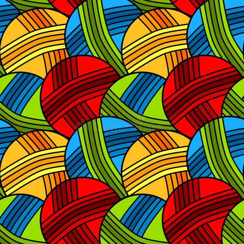 Seamless garn klumpa ihop sig bakgrund mönstrar royaltyfri illustrationer