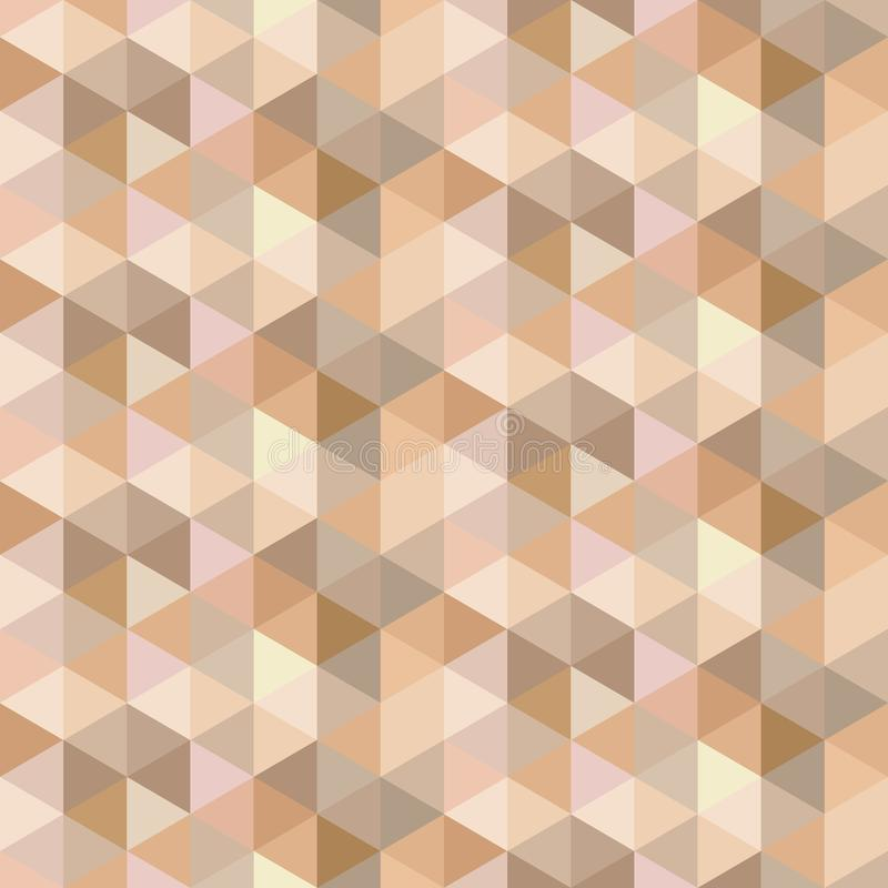 Seamless geometric abstract background. Gold, brown, gray triangles Texture vector illustration