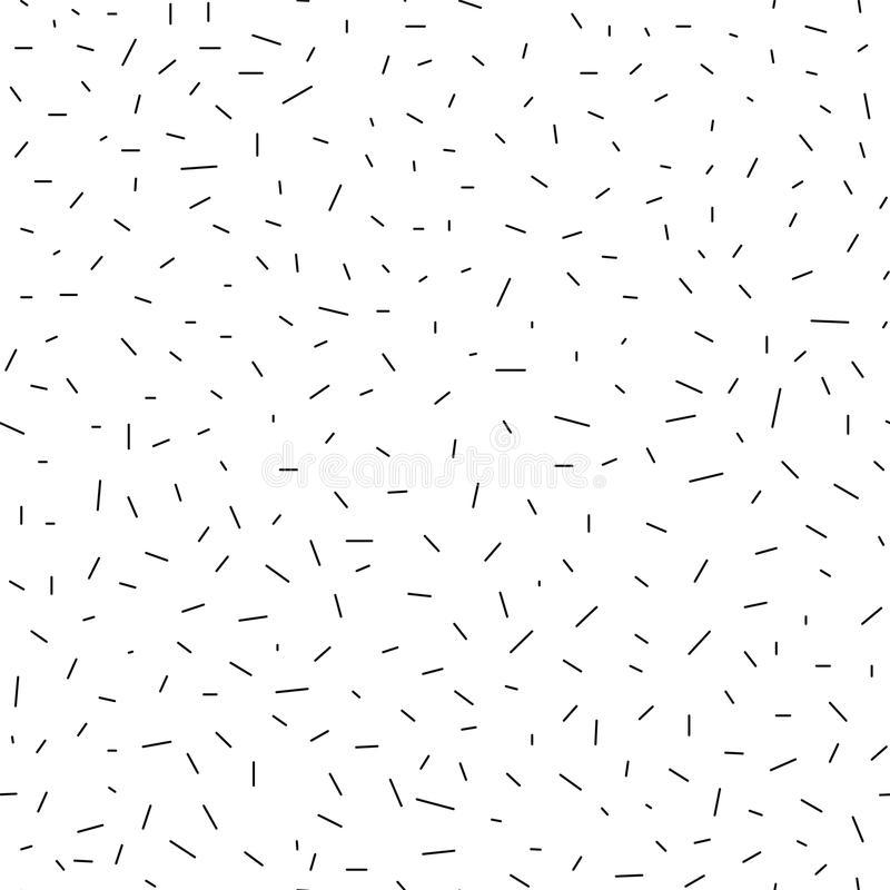 Seamless geometric abstract pattern - dashes stock illustration