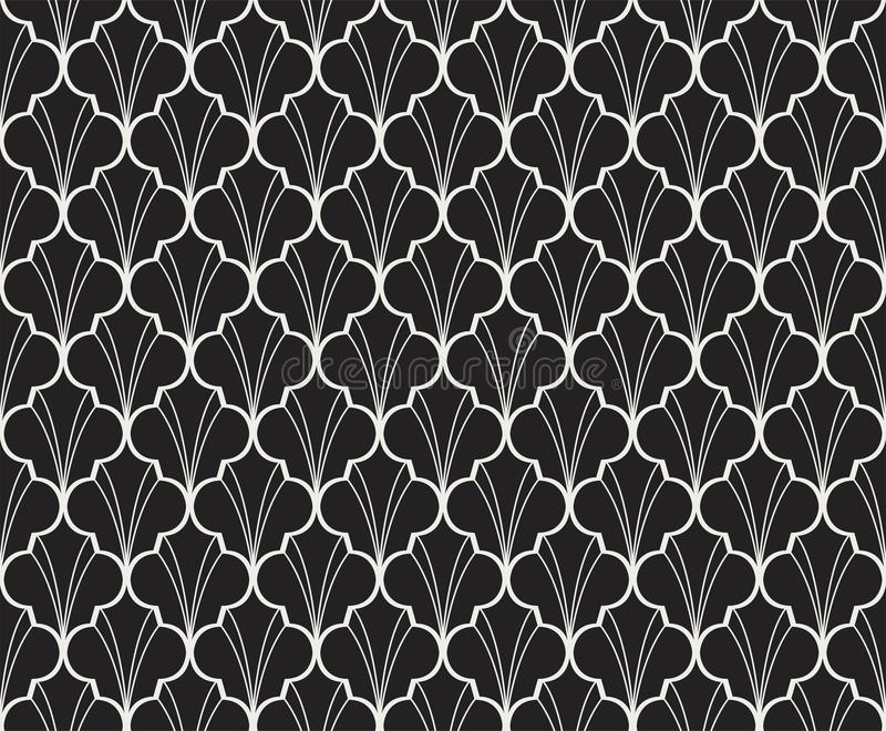 Seamless Geometric Art Deco Pattern. Abstract vector floral background. Classic Art Deco Seamless Pattern. Geometric Stylish Texture. Abstract Retro Vector vector illustration