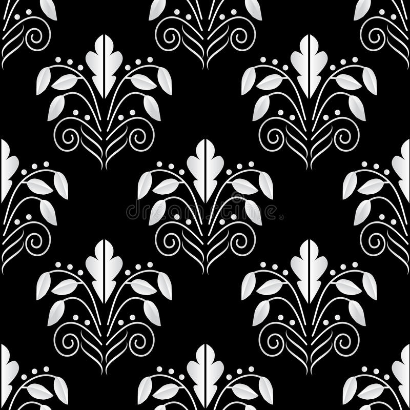 Seamless geometric background black and white stock photos