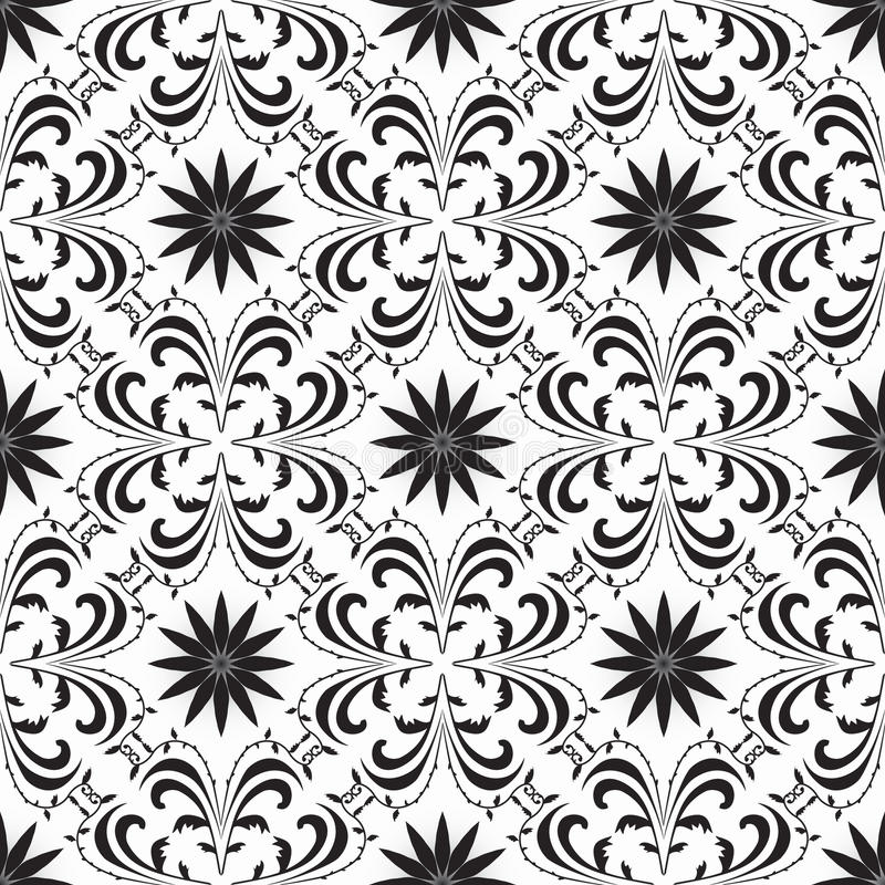 Seamless geometric background black and white royalty free stock photography