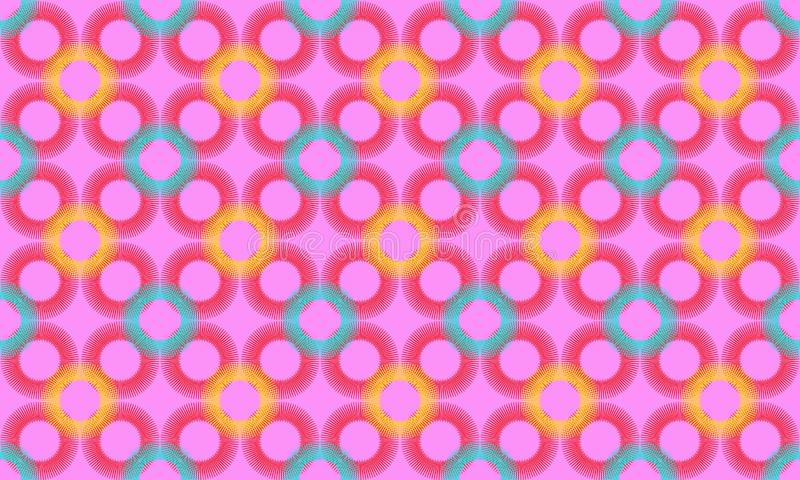 Seamless Geometric background pattern. Colorful Decorative graphic pattern made of circles stock illustration