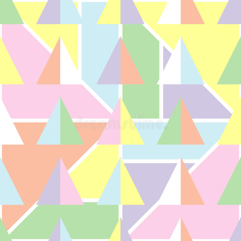 Seamless geometric background with soft pastel colors. royalty free stock images