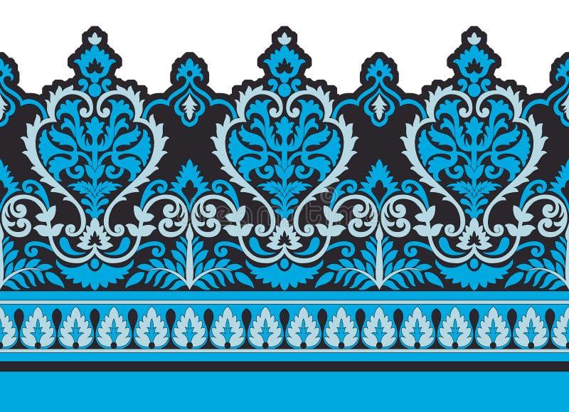 Seamless geometric border royalty free illustration