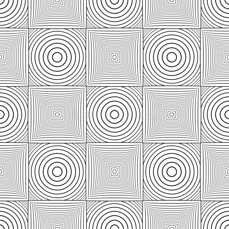 Seamless geometric checked pattern. Lines texture on white background royalty free illustration