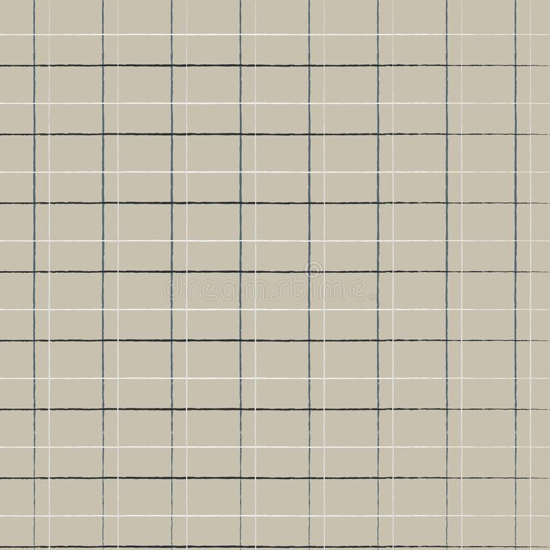 Seamless geometric cute caged pattern on burlap fond. Print for textile, fabric manufacturing, wallpaper, covers, surface, wrap,. Scrapbooking, decoupage royalty free illustration