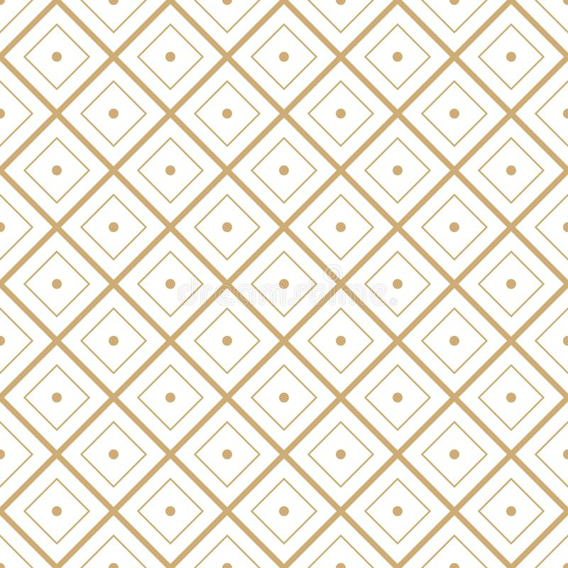 Seamless geometric diamond tile minimal graphic vector pattern.  royalty free illustration