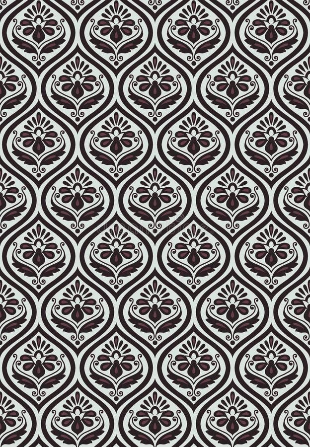 Seamless geometric floral design pattern vector illustration