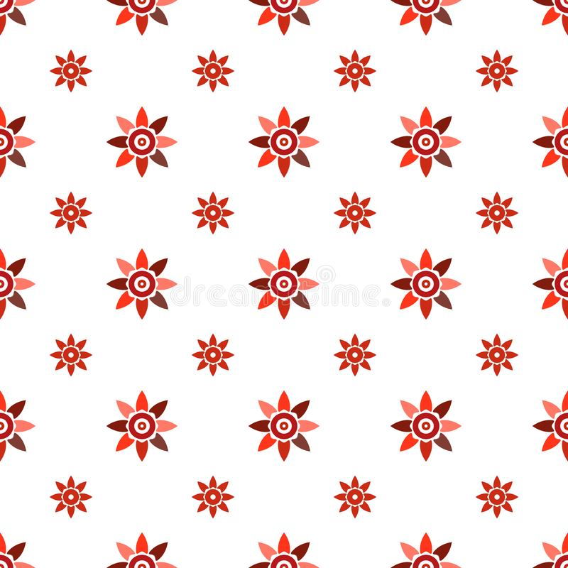 Seamless geometric floral pattern vector background design colorful abstract art with spring summer flowers pink red white vector illustration