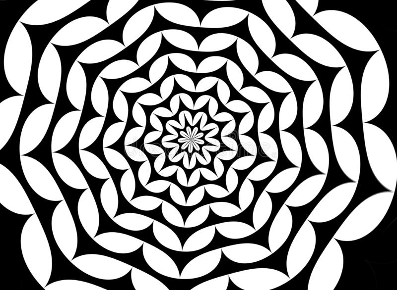 Seamless geometric flowers texture. Illustration for design, wallpaper, fashion, print. Backdrop, cobweb, new, art, silhouette, simple, modern, fabric royalty free illustration