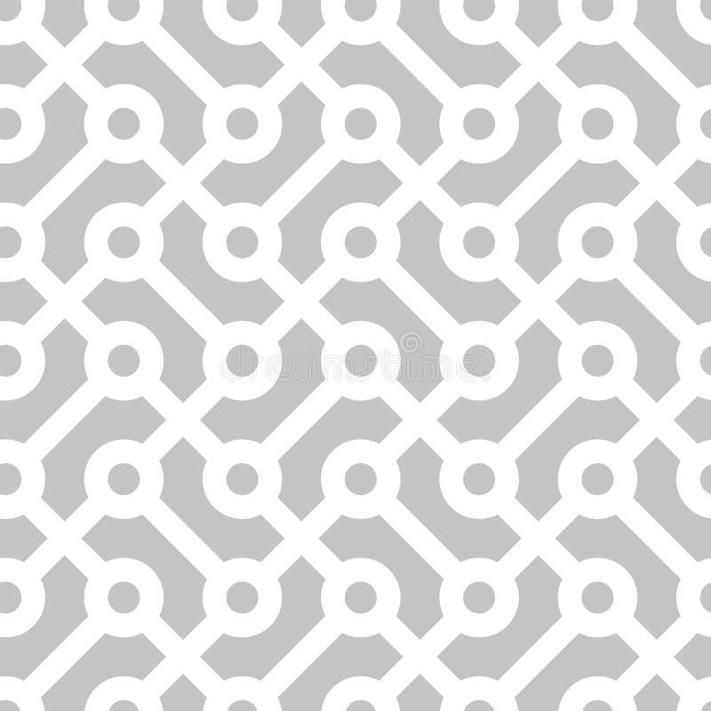 Seamless geometric monochrome pattern vector illustration