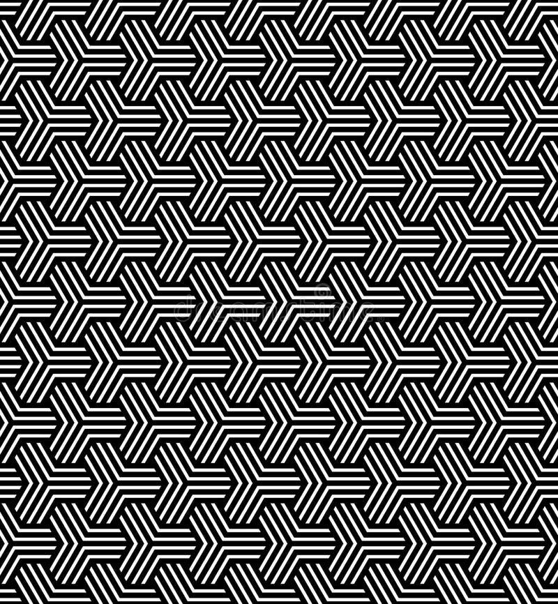 Seamless geometric op art pattern. royalty free illustration