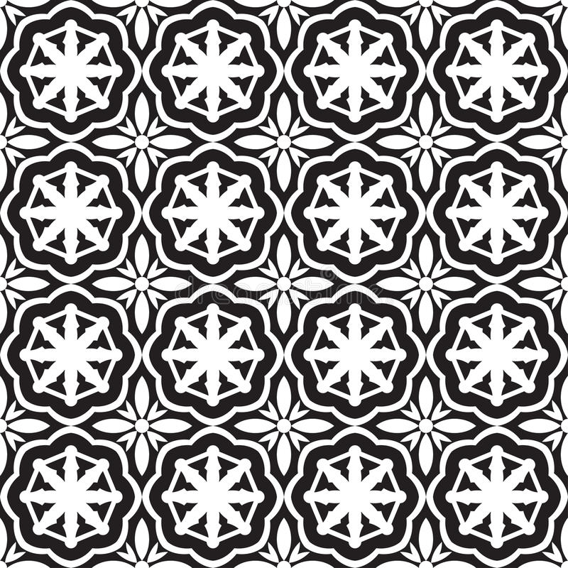 Abstract seamless op black & white nautical pattern. Seamless geometric op ornament background vector illustration