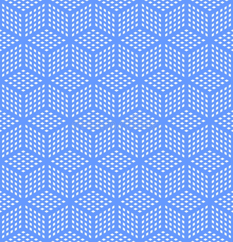 Seamless geometric optical illusion texture. Seamless geometric blue pattern. Optical illusion texture. Vector art vector illustration