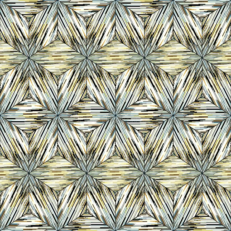 Free Seamless Geometric Oriental Ikat Pattern, Gray And Yellow Ornament On White. Royalty Free Stock Photography - 131874447