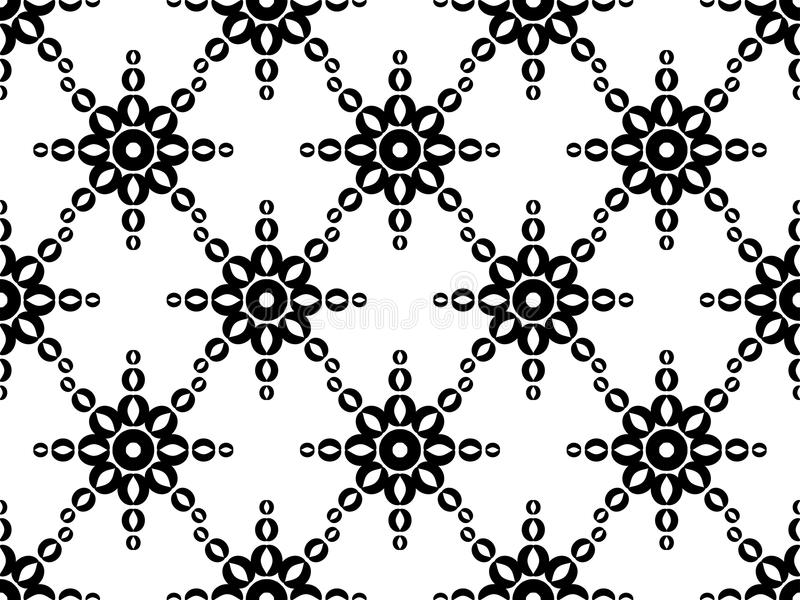 Seamless geometric ornament. Black pattern on a white background. Vector vector illustration