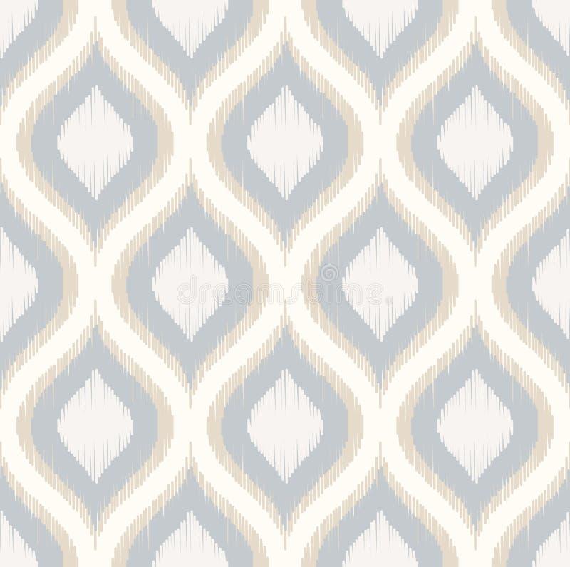 Seamless geometric ornament mesh pattern royalty free illustration