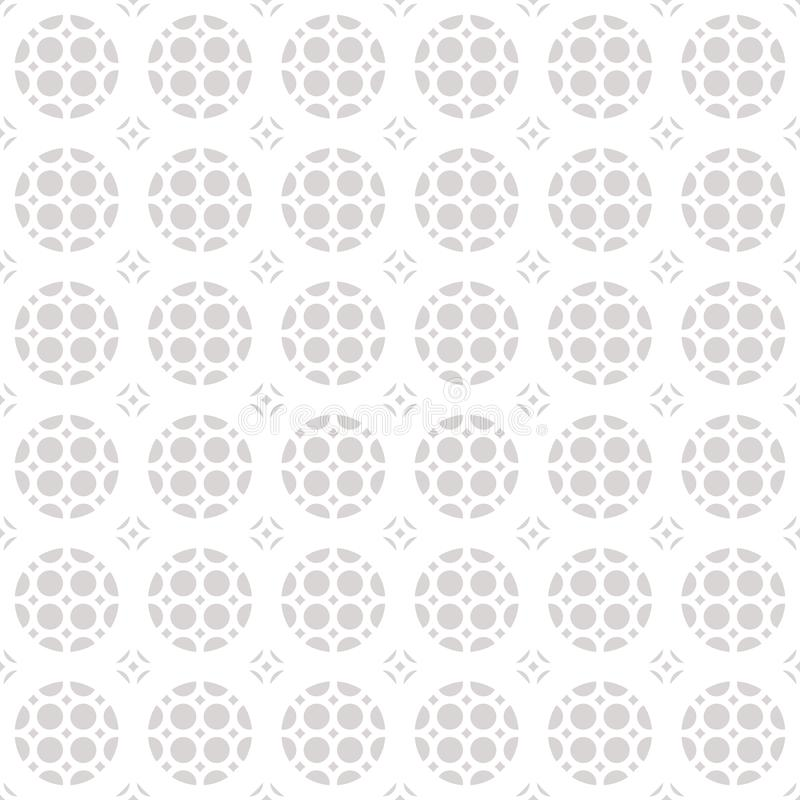 Seamless geometric ornament pattern. White and gray texture. stock illustration