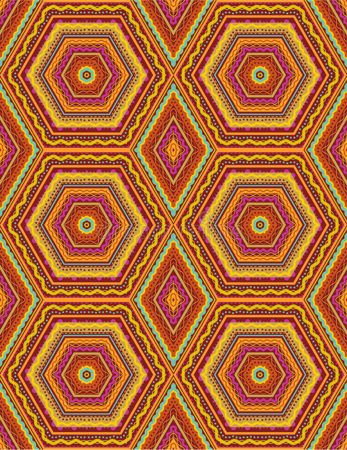 Seamless geometric pattern stock illustration
