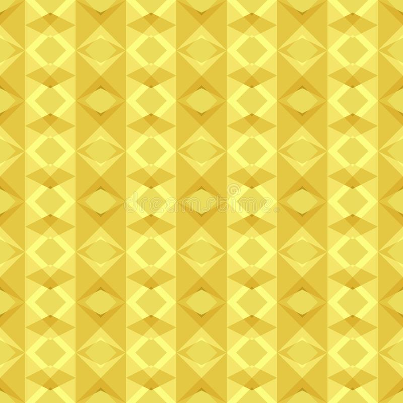 Seamless geometric pattern background of yellow gold polygon shapes with vertical stripes. Flat design vector. vector illustration