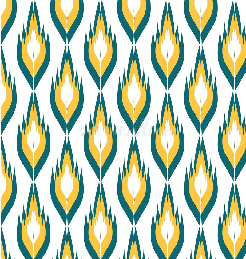 Geometric pattern ikats royalty free illustration