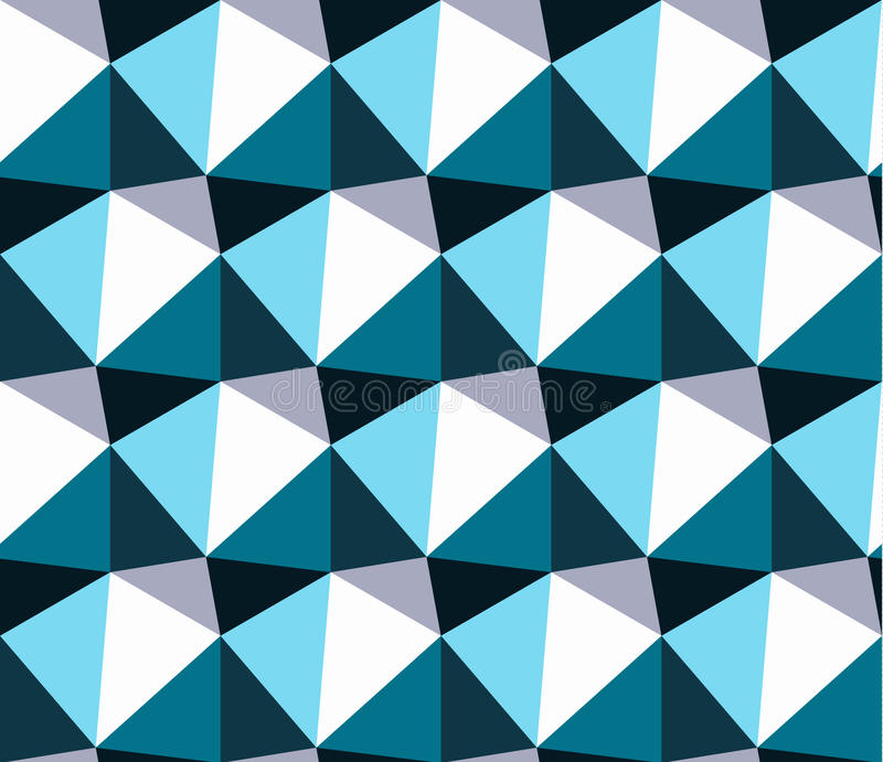 Seamless geometric pattern. Blue abstract triangle geometrical background. vector illustration