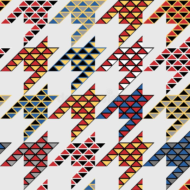 Classic Hounds-tooth pattern in a patchwork collage style. Seamless geometric pattern. Classic Hounds-tooth pattern in a collage style. Vector image stock illustration