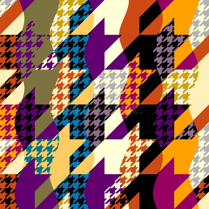 Seamless Hounds-tooth pattern Vector Illustration. royalty free illustration