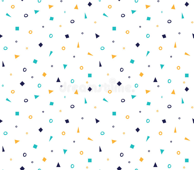 Seamless geometric pattern with colorful elements, vector background. vector illustration