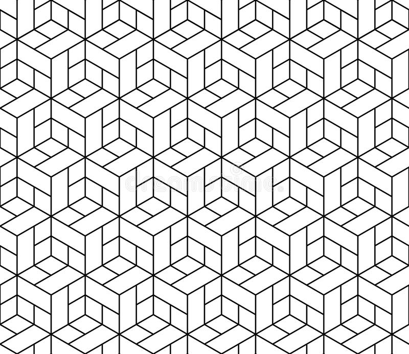 Seamless geometric pattern with cubes. vector illustration