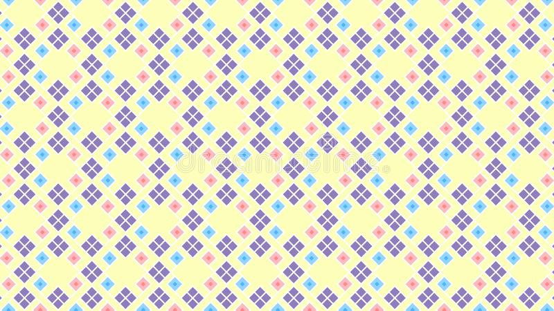 Seamless Geometric Pattern Of Cute Colors royalty free stock photography