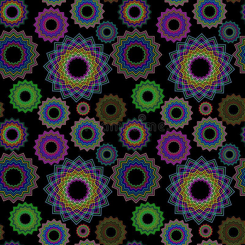 Seamless Geometric Pattern Extended 2 Royalty Free Stock Images
