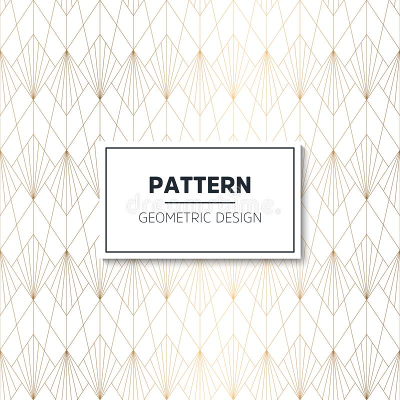 Seamless geometric pattern. Geometric simple print. Vector repeating texture. Modern hipster swatch royalty free illustration