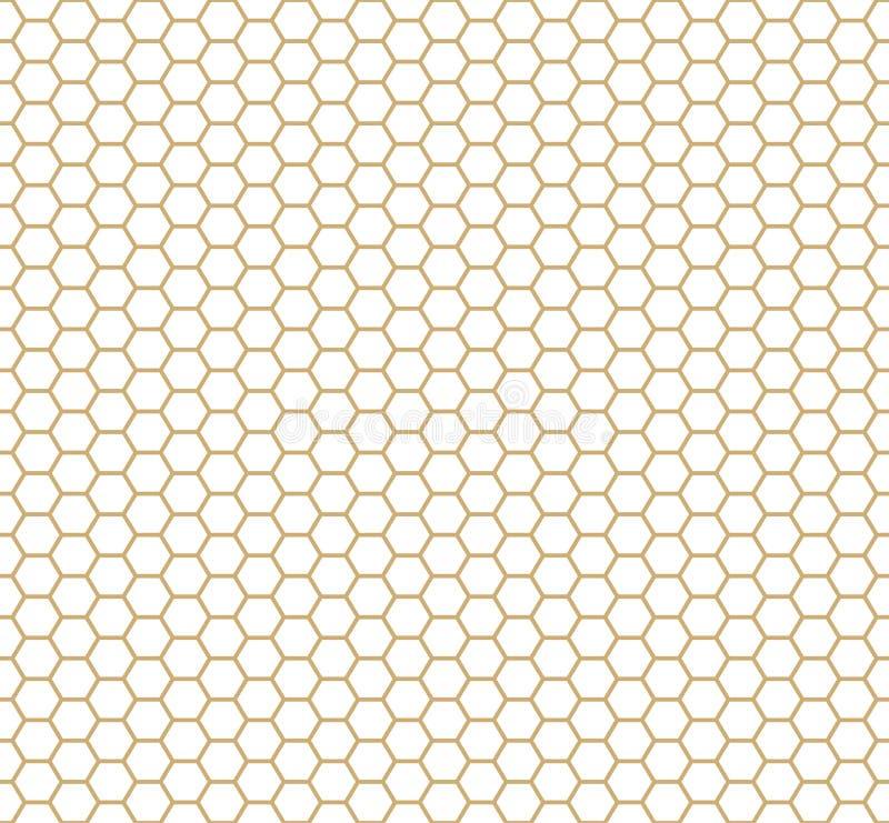 Seamless geometric pattern of hexagonal cell texture stock illustration