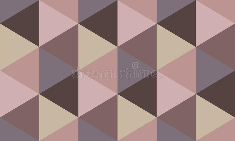 Seamless geometric pattern of hexagons in brown-pink tone vector illustration