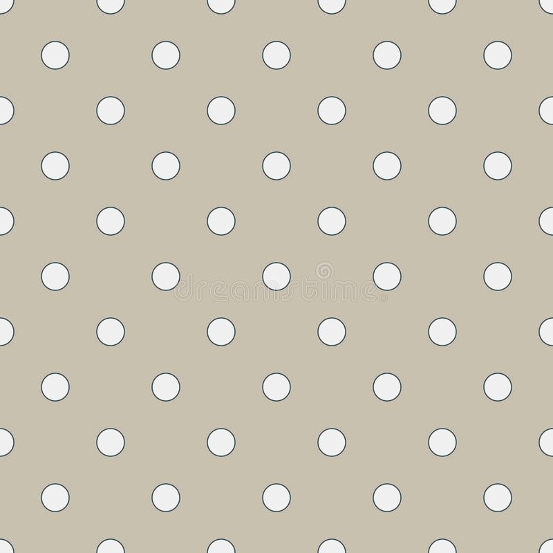 Free Seamless Geometric Pattern In Cute White Polka Dots On Burlap Fond. Print For Textile, Fabric Manufacturing, Wallpaper, Covers, Stock Photo - 153623890